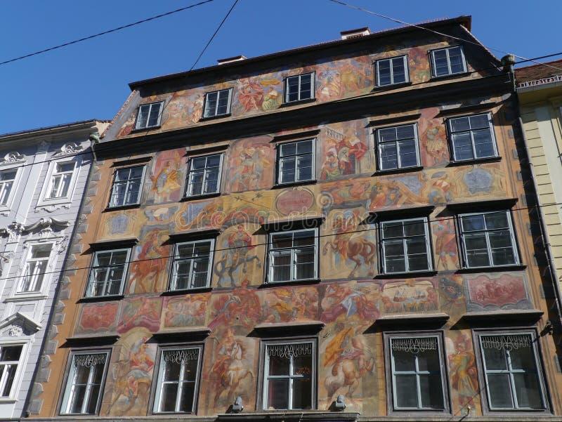 Έργα ζωγραφικής στο Γκραζ στην Αυστρία στοκ φωτογραφίες με δικαίωμα ελεύθερης χρήσης
