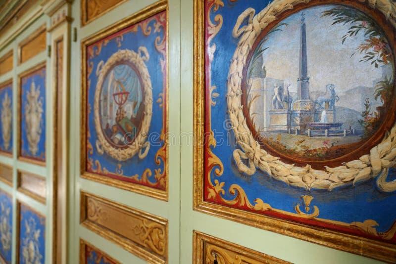 Έργα ζωγραφικής τοίχων στα μουσεία Βατικάνου στη πόλη του Βατικανού στοκ εικόνες
