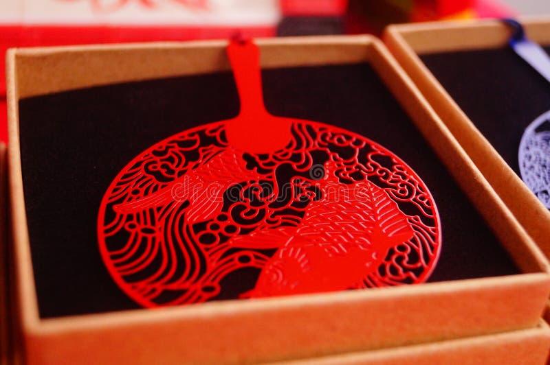 Έργα χαρτί-περικοπών παραδοσιακού κινέζικου της τέχνης στοκ εικόνες