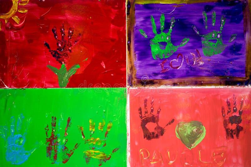 Έργο τέχνης χεριών ελεύθερη απεικόνιση δικαιώματος