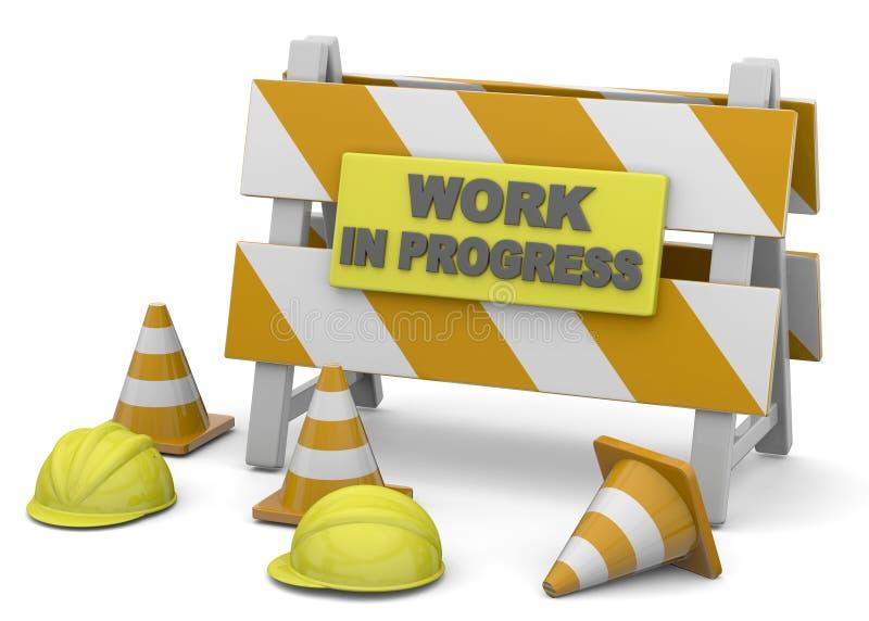 Έργο υπό κατασκευή - τρισδιάστατο απεικόνιση αποθεμάτων