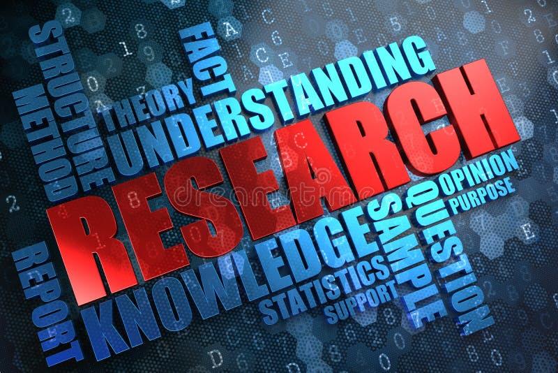 Έρευνα. Έννοια Wordcloud. διανυσματική απεικόνιση