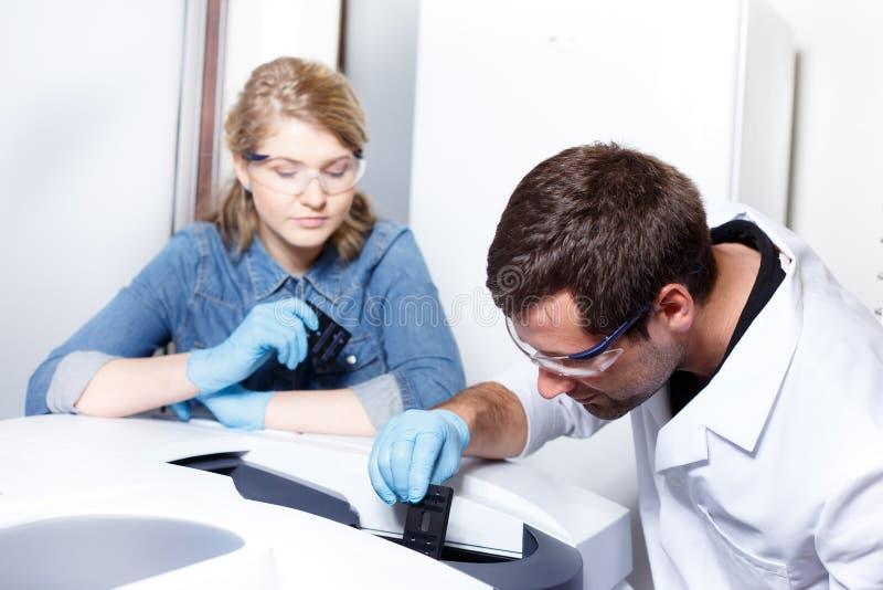 Έρευνα επιστημόνων σε ένα περιβάλλον εργαστηρίων στοκ φωτογραφία με δικαίωμα ελεύθερης χρήσης