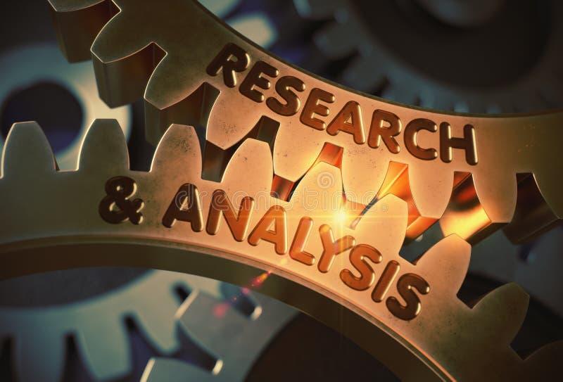 Έρευνα και ανάλυση στα χρυσά εργαλεία βαραίνω τρισδιάστατη απεικόνιση διανυσματική απεικόνιση