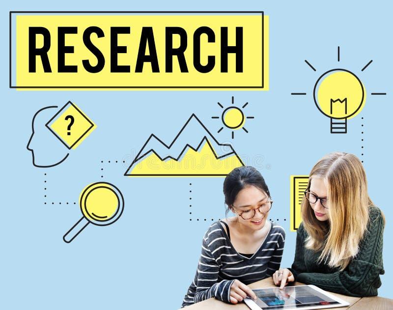 Έρευνα που ψάχνει την έννοια ερευνητών μελέτης αναζήτησης στοκ εικόνες