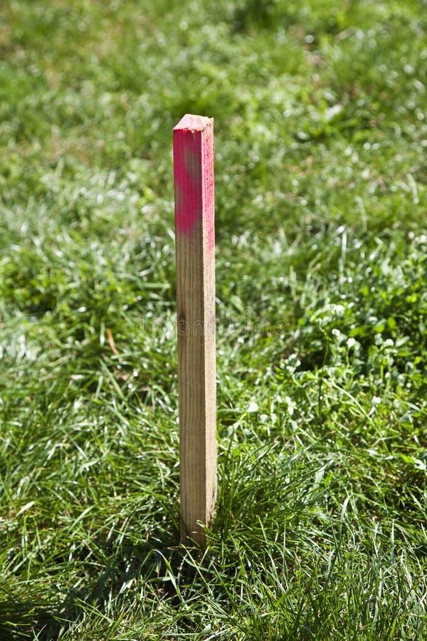 έρευνα πόλων πεδίων ξύλινη στοκ φωτογραφία με δικαίωμα ελεύθερης χρήσης