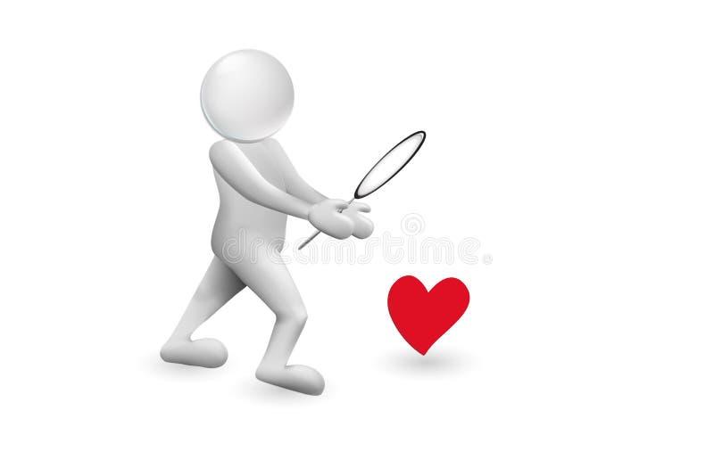 Έρευνα της διανυσματικής εικόνας αγάπης διανυσματική απεικόνιση