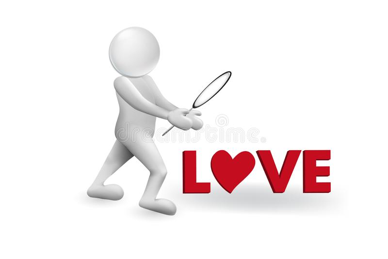 Έρευνα της διανυσματικής εικόνας αγάπης ελεύθερη απεικόνιση δικαιώματος