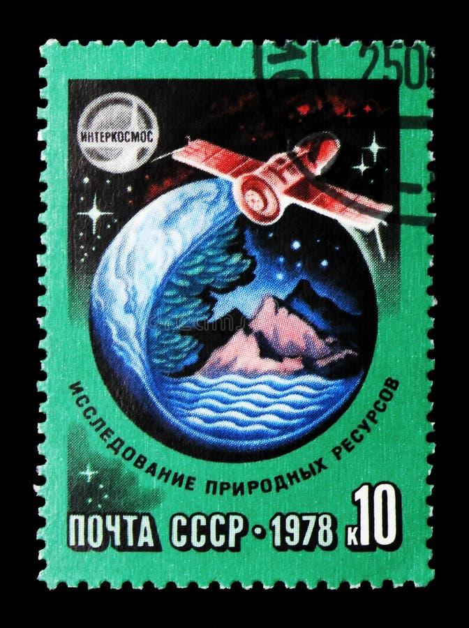 Έρευνα των φυσικών πόρων, διεθνής διαστημική συνεργασία s στοκ εικόνα με δικαίωμα ελεύθερης χρήσης