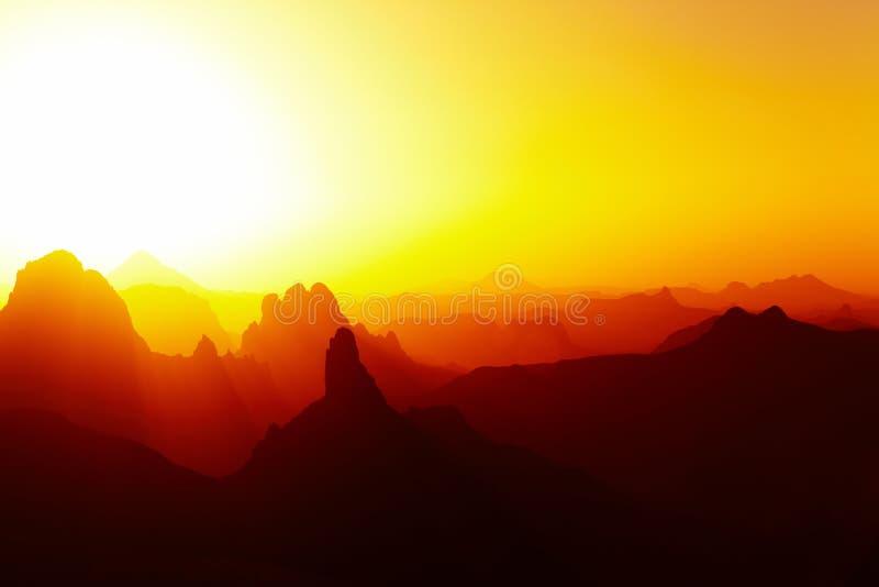 έρημος πέρα από την ανατολή Σ&a στοκ φωτογραφία με δικαίωμα ελεύθερης χρήσης