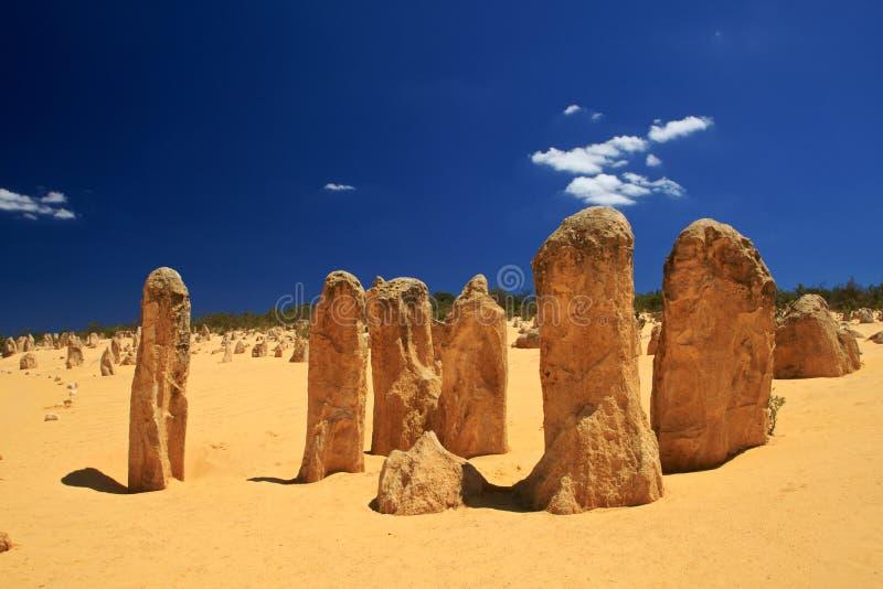 Έρημος πυραμίδων, δυτική Αυστραλία στοκ εικόνα