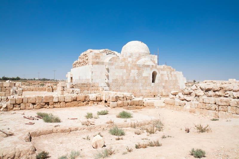 έρημος hammam Ιορδανία κάστρων Al sarah στοκ εικόνες