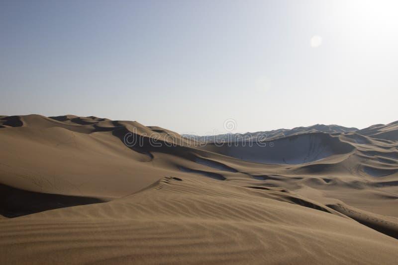 Έρημος Kumtag, xinjiang, χιόνι στοκ εικόνες