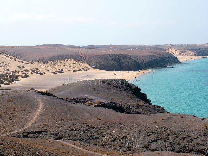έρημος Lanzarote παραλιών στοκ φωτογραφία με δικαίωμα ελεύθερης χρήσης