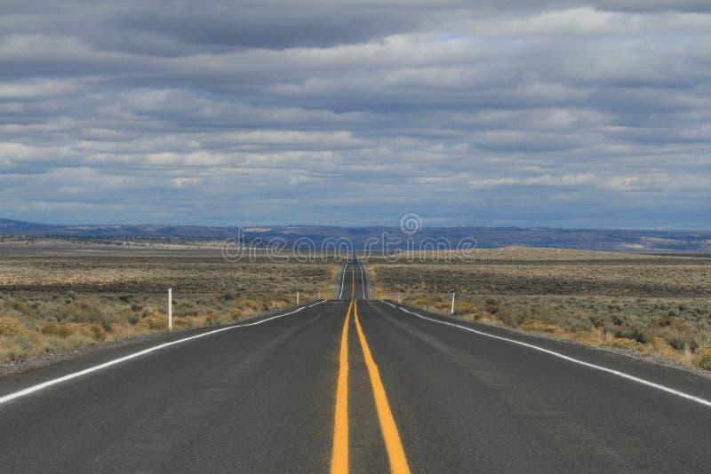 Έρημος Road στοκ φωτογραφία