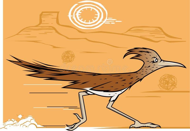 Έρημος Roadrunner διανυσματική απεικόνιση