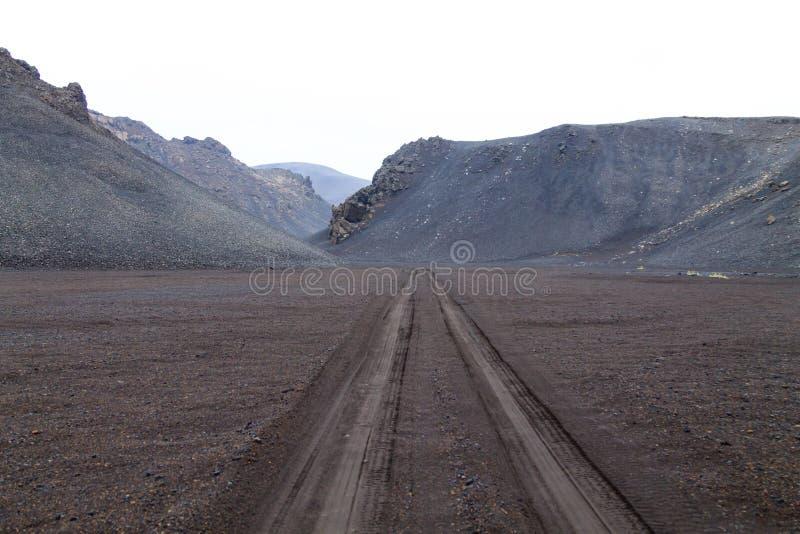 Έρημο τοπίο από caldera Askja την περιοχή, Ισλανδία στοκ φωτογραφία με δικαίωμα ελεύθερης χρήσης