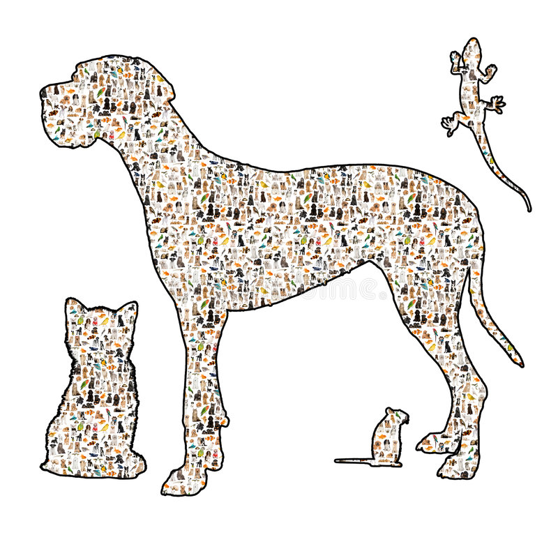 έρπον silouhette τρωκτικών σκυλιών &gam ελεύθερη απεικόνιση δικαιώματος