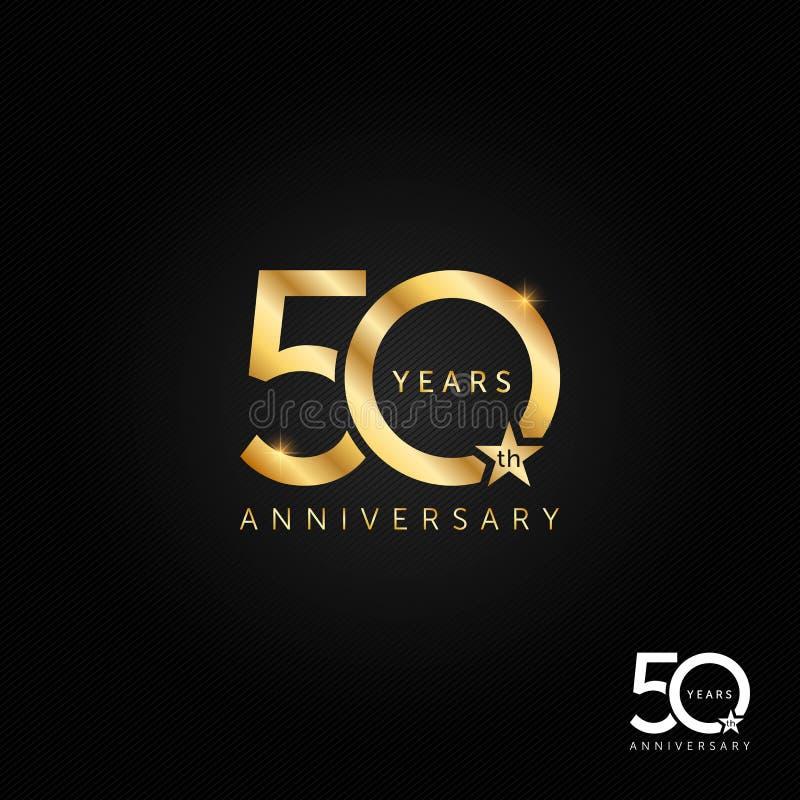 50 έτη λογότυπων επετείου, εικονίδιο και διανυσματική απεικόνιση συμβόλων, έννοια εορτασμού διανυσματική απεικόνιση