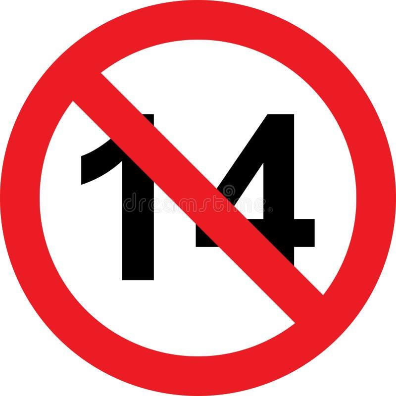 14 έτη σημαδιών περιορισμού απεικόνιση αποθεμάτων