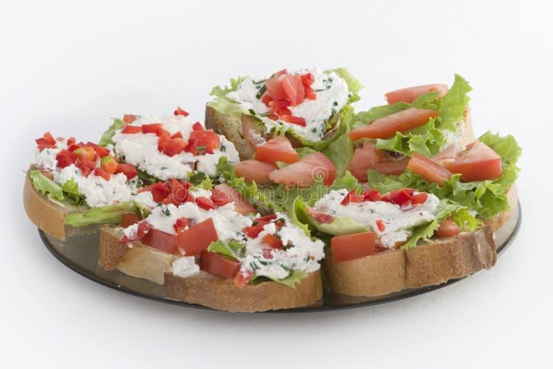έτοιμα σάντουιτς πιάτων προγευμάτων στοκ φωτογραφία