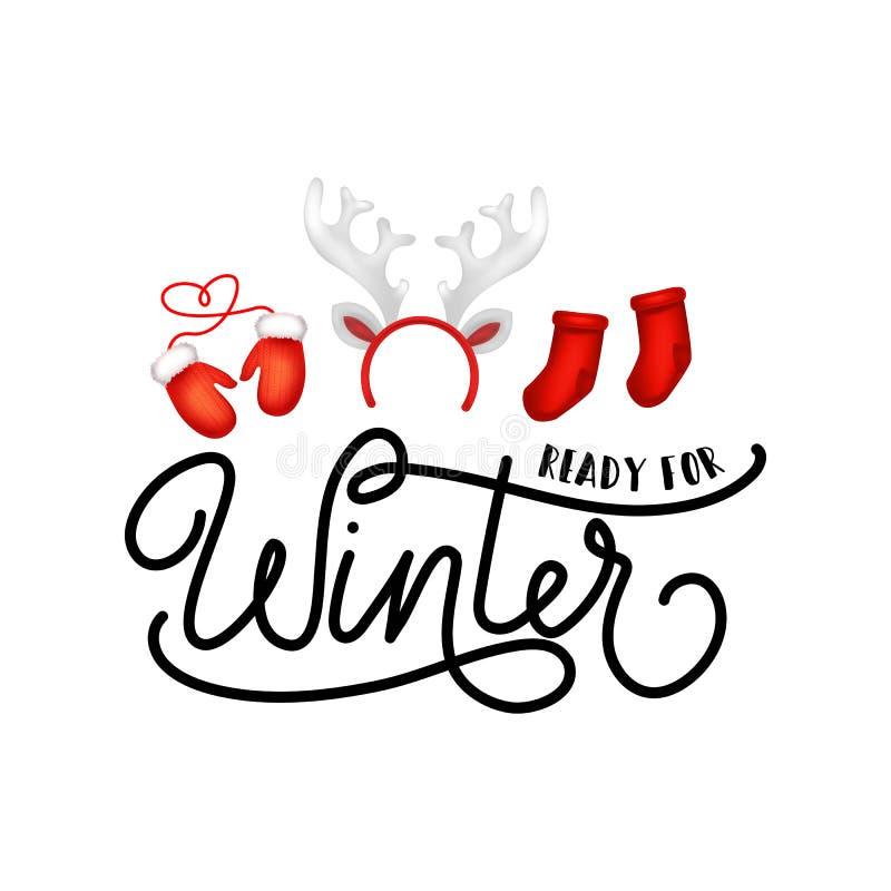 Έτοιμη για το χειμώνα η εμπνευσμένη αφίσα με τις κάλτσες, γάντια και άφησε απεικόνιση αποθεμάτων