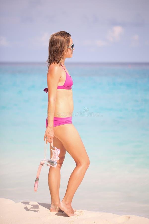 έτοιμη κολύμβηση με αναπνευστήρα στοκ φωτογραφία