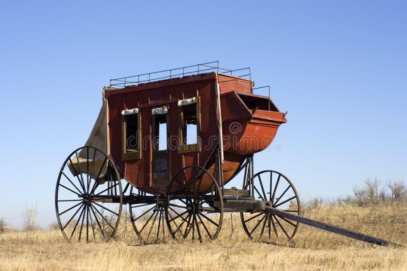έτοιμη ταχυδρομική άμαξα για να ταξιδεψει στοκ εικόνα