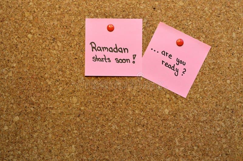 Έτοιμος για το υπόμνημα Ramadan στοκ φωτογραφίες