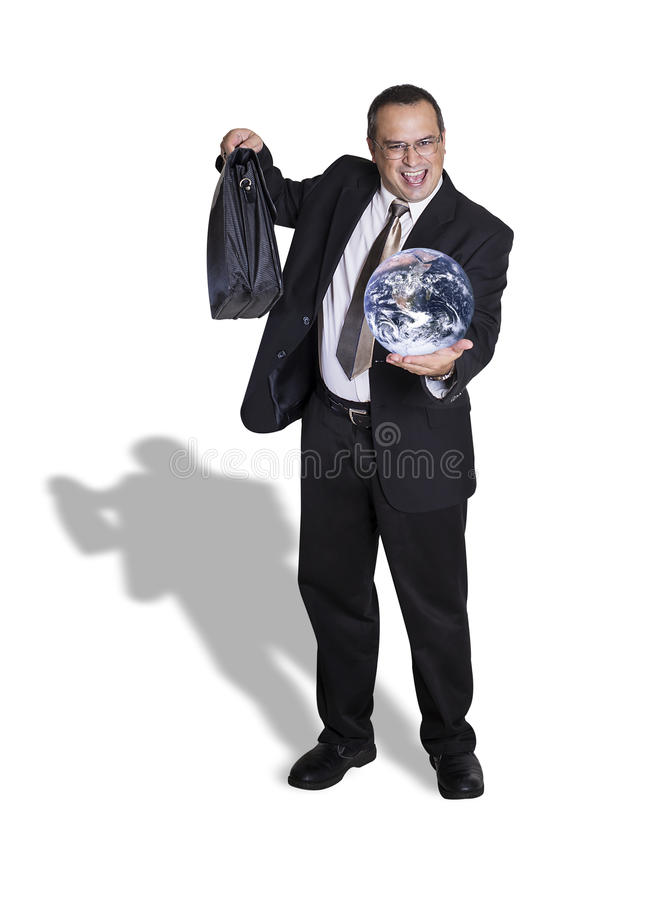 Έτοιμος να πάρει τον κόσμο στοκ εικόνα με δικαίωμα ελεύθερης χρήσης