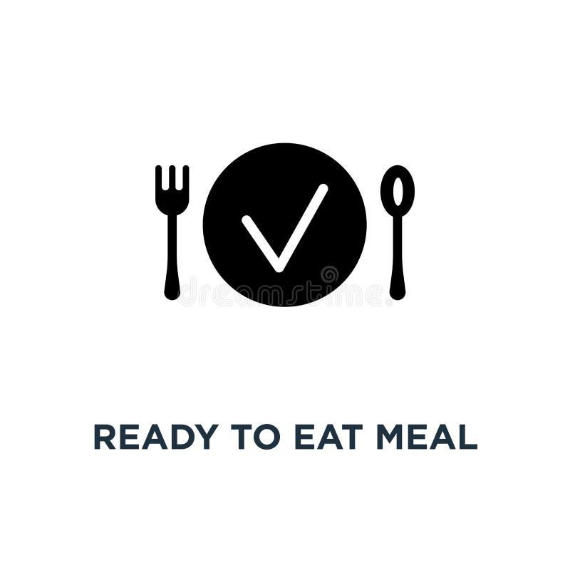 Έτοιμος να φάει το εικονίδιο γεύματος Απλή απεικόνιση στοιχείων Έτοιμος ea διανυσματική απεικόνιση
