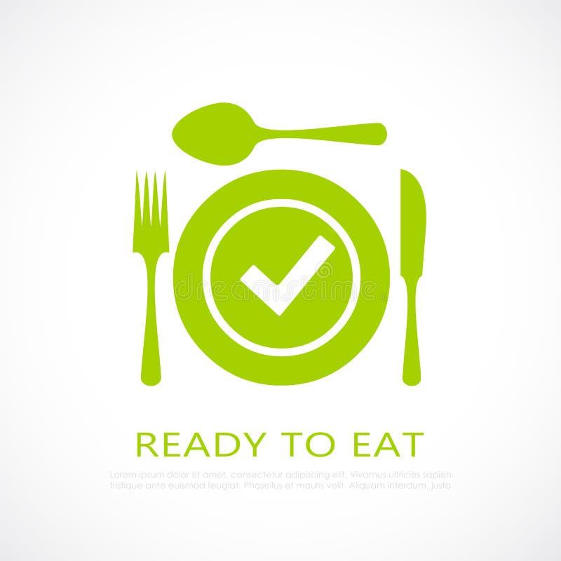 Έτοιμος να φάει το εικονίδιο τροφίμων ελεύθερη απεικόνιση δικαιώματος