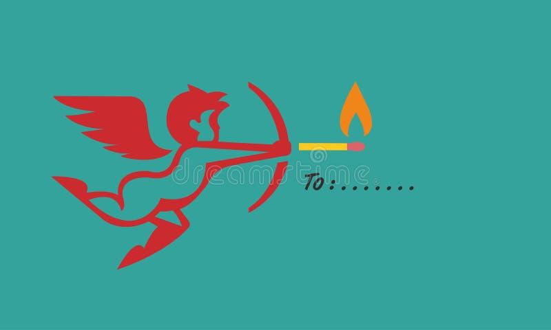 Έτοιμο καθήκον αγάπης νεράιδων για την ημέρα βαλεντίνων ελεύθερη απεικόνιση δικαιώματος