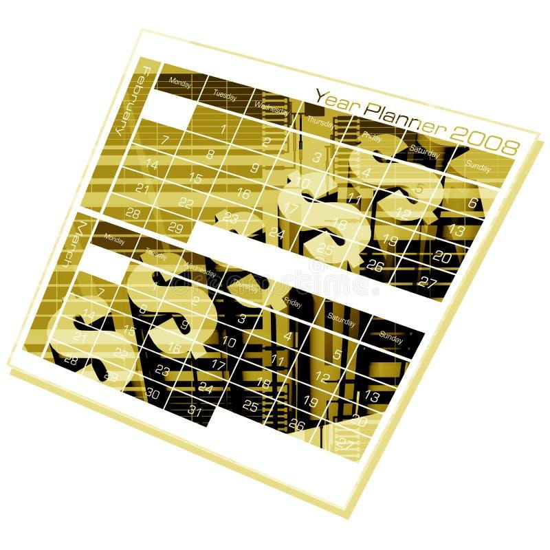 έτος αρμόδιων για το σχεδιασμό διανυσματική απεικόνιση