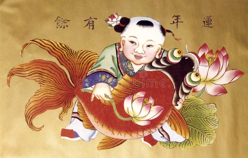 έτος ζωγραφικής της Κίνας στοκ εικόνα