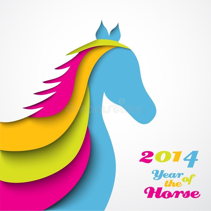 Έτος του αλόγου. Χριστούγεννα ελεύθερη απεικόνιση δικαιώματος
