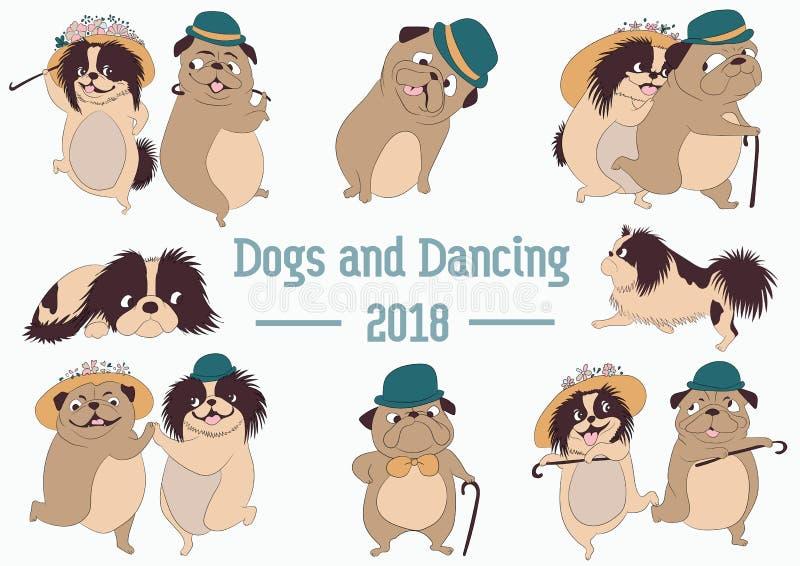 Έτος του σκυλιού Σύμβολο του έτους 2018 απεικόνιση αποθεμάτων