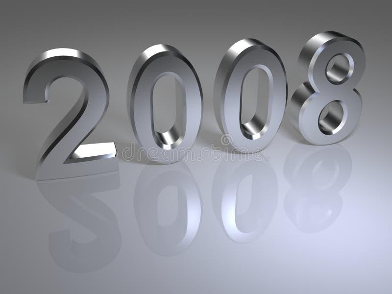 έτος του 2008 διανυσματική απεικόνιση