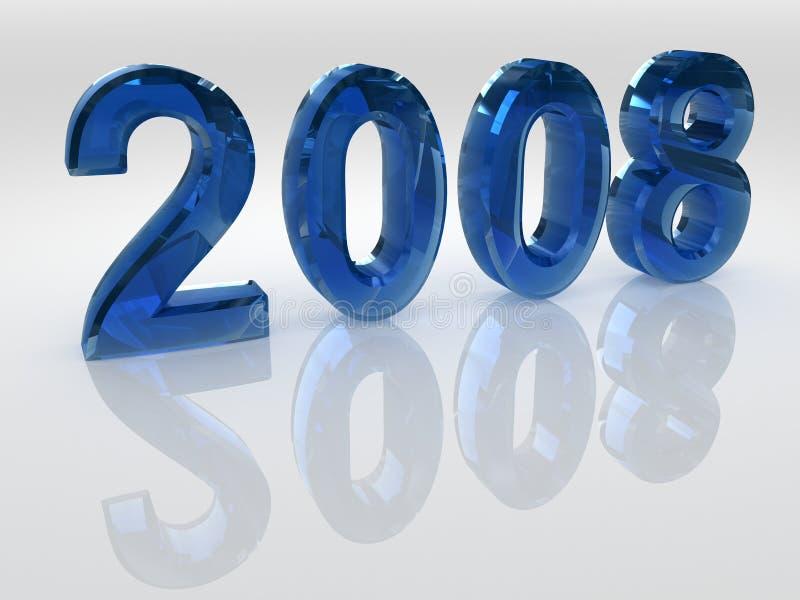 έτος του 2008 ελεύθερη απεικόνιση δικαιώματος