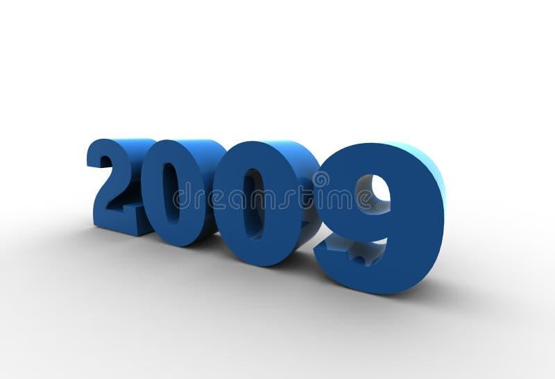 έτος του 2009 ελεύθερη απεικόνιση δικαιώματος