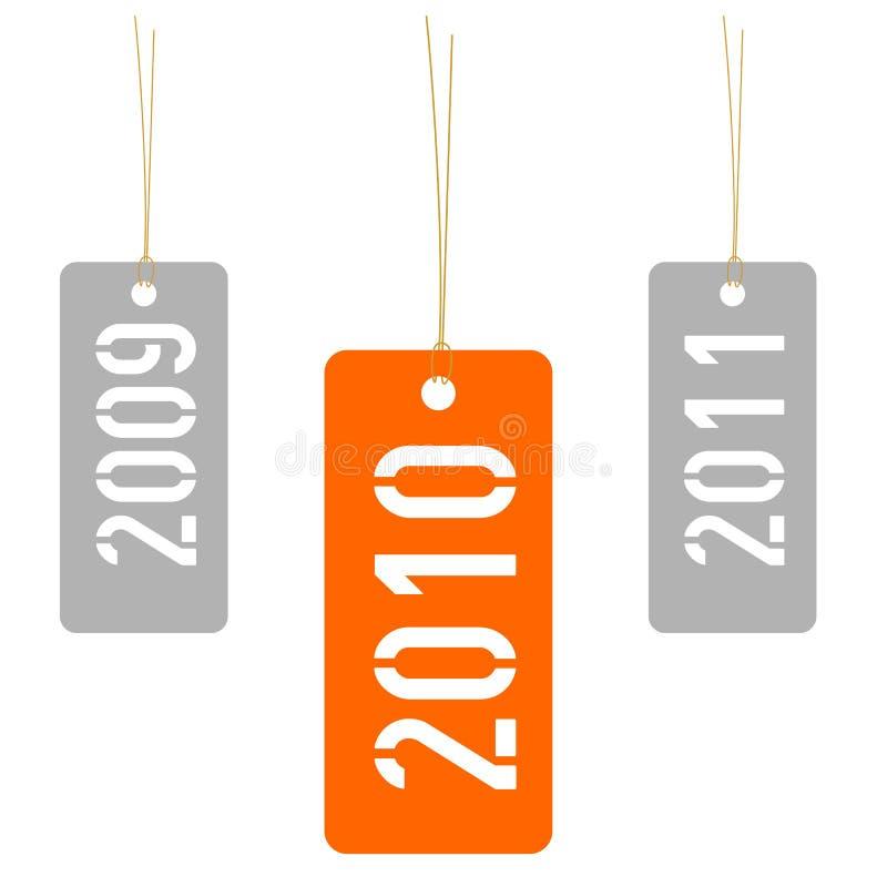 έτος του 2010 διανυσματική απεικόνιση