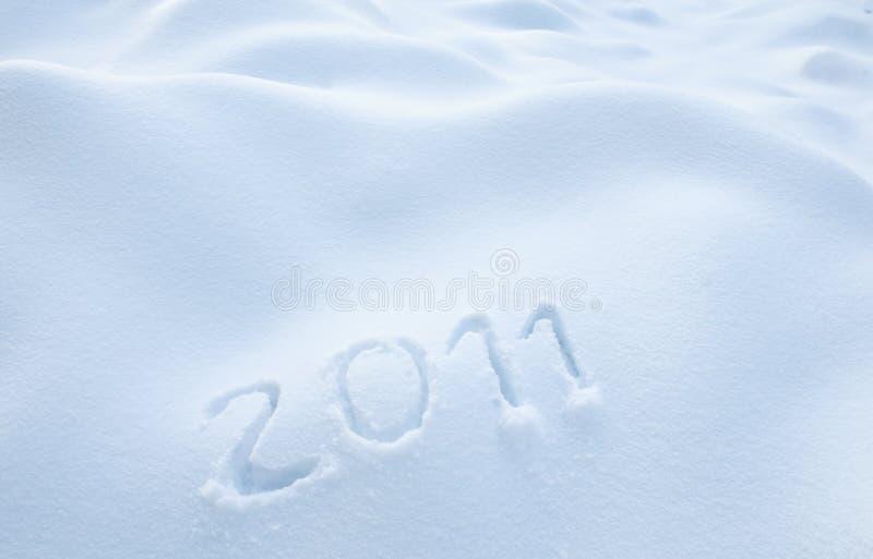 έτος χιονιού του 2011 στοκ εικόνα