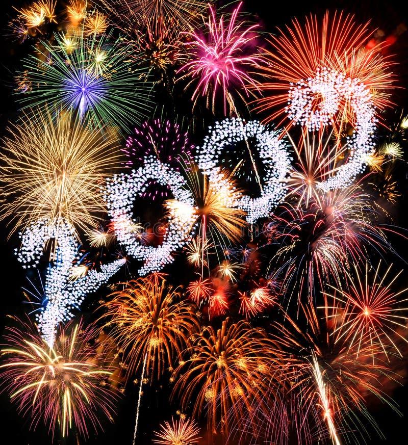 έτος 2009 πυροτεχνημάτων στοκ εικόνες