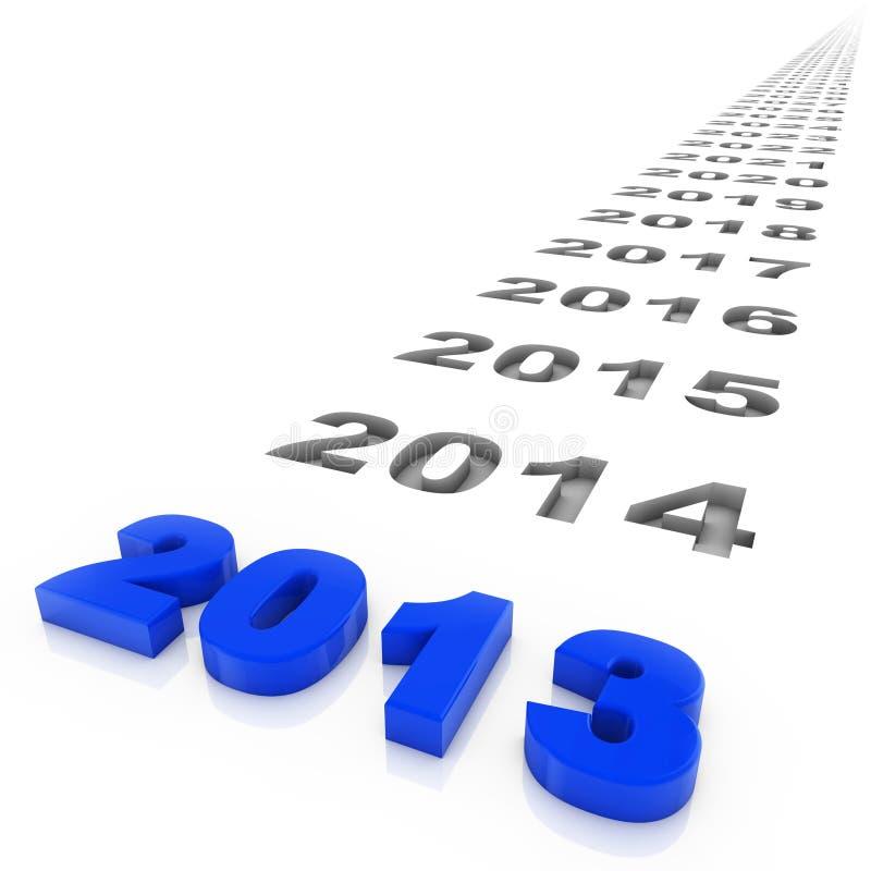 Έτος 2013 διανυσματική απεικόνιση