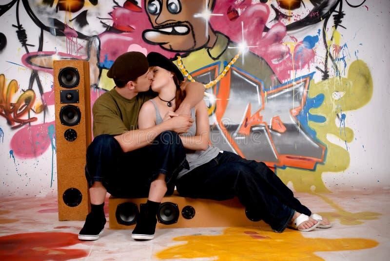 έφηβοι γκράφιτι αστικοί στοκ εικόνα με δικαίωμα ελεύθερης χρήσης