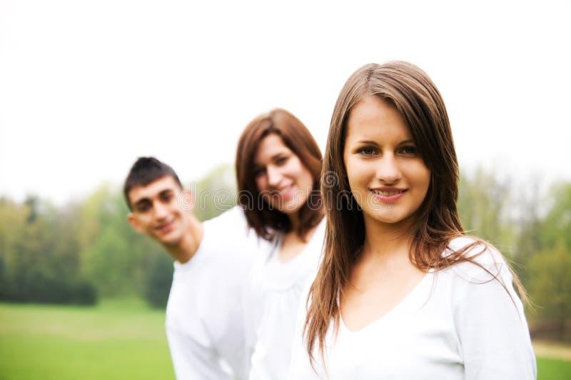 έφηβοι ομάδας στοκ εικόνες