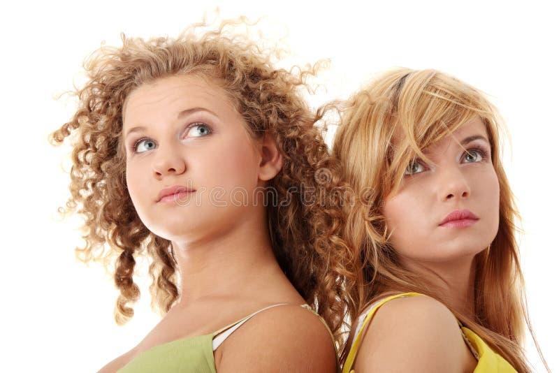 έφηβος δύο φίλων στοκ εικόνες