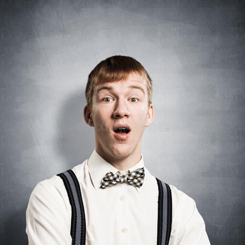 Έφηβος Stupefied με το στόμα που ανοίγουν στοκ εικόνες