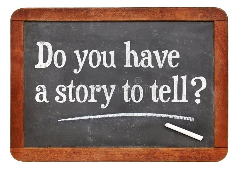 Έχετε μια ιστορία που λέει; στοκ φωτογραφίες