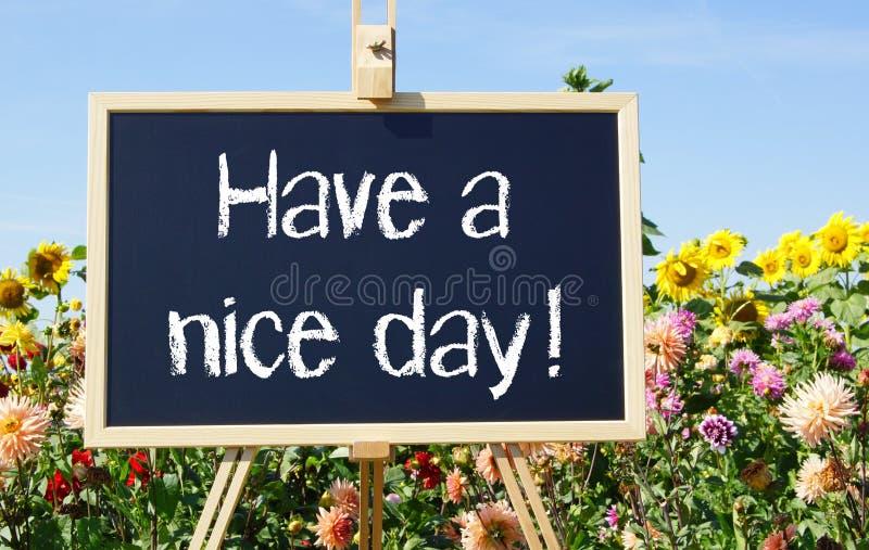 Έχετε μια συμπαθητική ημέρα! στοκ εικόνα